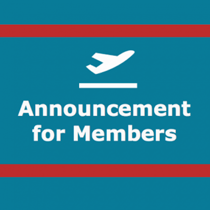 Announcement for Members