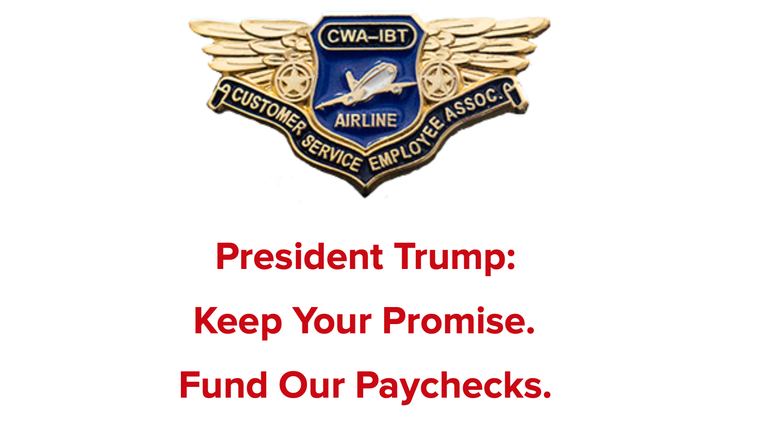 Fund Our Paychecks Alert