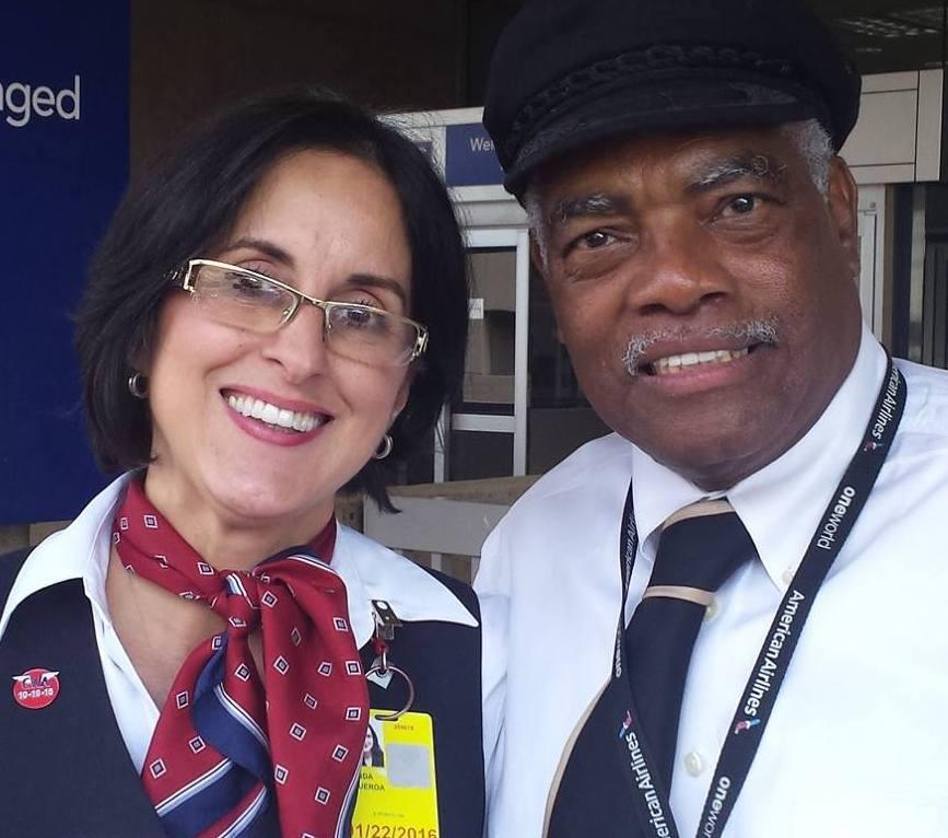 Two American Airlines passenger service employees