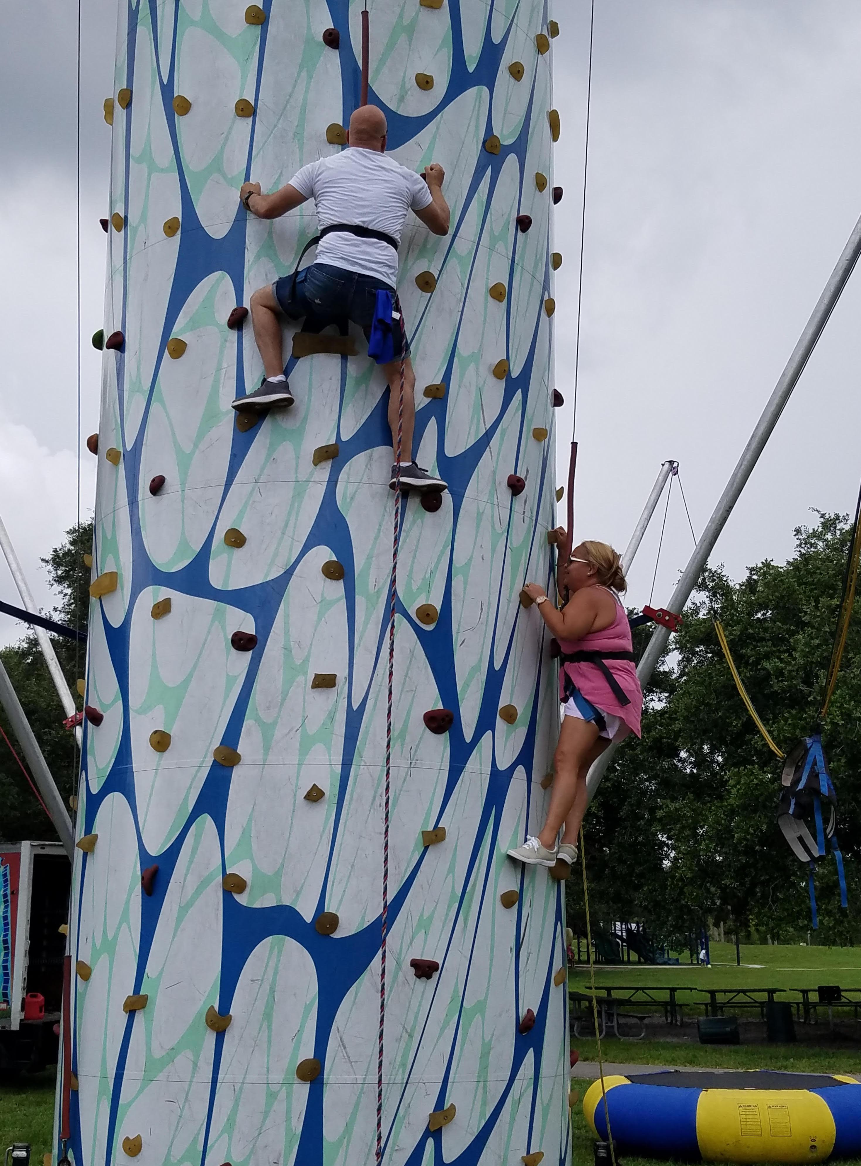 Climbing at the 2018 Family Picnic-Local 3140